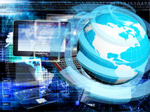 Engineering designing connection tecnology. Creation globalization digital communications Stock Photography