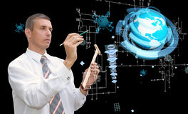 Engineering designing connection tecnology Stock Image