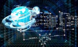 Engineering designing connection tecnology. Creation globalization digitalcommunications Stock Photo