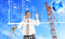 Engineering  designing technologies. Engineering industrial designing technologies Royalty Free Stock Photo