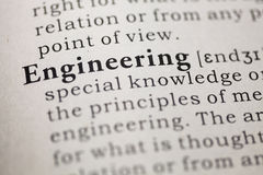 Engineering. Dictionary definition of the word engineering. including key descriptive words Stock Image