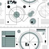 Engineering draft pattern. Engineering draft seamless pattern. Geometric  wallpaper or website background Royalty Free Stock Photos