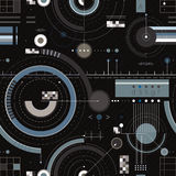 Engineering draft seamless pattern. Geometric vector wallpaper or website background Stock Image