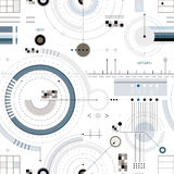 Engineering draft seamless pattern. Engineering draft seamless pattern, geometric vector wallpaper or website background Stock Image