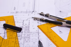 The engineering drawing Royalty Free Stock Photo