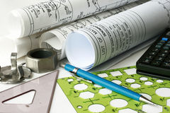 Engineering drawing Royalty Free Stock Photo