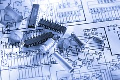 Engineering drawing Royalty Free Stock Photography