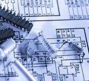 Engineering drawing Stock Photos