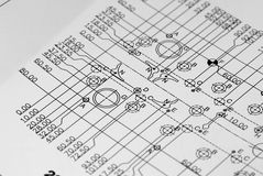 Engineering drawing Royalty Free Stock Image
