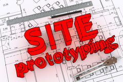 Engineering drawing Stock Images