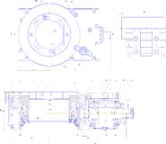 Engineering drawing of industrial equipment Stock Photography