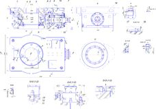 Engineering drawing of industrial equipment Royalty Free Stock Photo