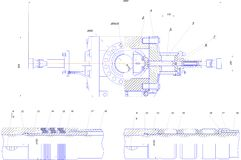 Engineering drawing of industrial equipment Royalty Free Stock Images