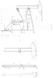 Engineering drawing of the pumping unit Royalty Free Stock Photo