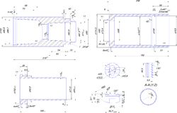 Engineering drawing of steel bush Royalty Free Stock Photography