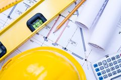 Engineering Drawings Stock Images