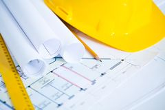 Engineering Drawings Royalty Free Stock Images