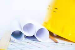 Engineering Drawings Stock Image