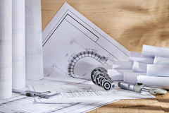 Engineering drawings Royalty Free Stock Photos