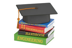 Engineering Education concept, 3D rendering. On white background Stock Photography