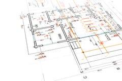 Engineering electricity blueprint Royalty Free Stock Image