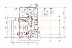 Engineering electricity blueprint Stock Photography