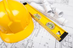 Engineering. Engineer civil helmet contractor workman hardhat stock photo