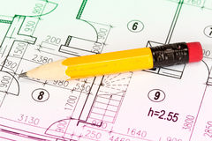 engineering för arkitekturteckningar Arkivbilder