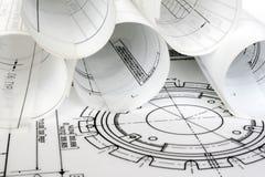 engineering för teckningar Arkivfoton