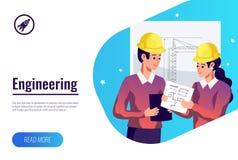 Engineering Flat Background stock illustration