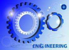 Engineering Gear Technology Blue Background. Vector/illustration Stock Photos