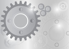 Engineering Gear Wheel Circle Technology. Concept Vector Illustration Gray Background Royalty Free Stock Photo