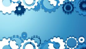 Engineering Gears Wallpaper in Blue. Illustration Stock Images