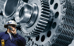 Engineering with giant machinery Stock Image