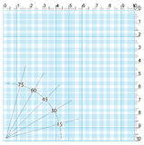 Engineering graph paper with degrees Royalty Free Stock Photos