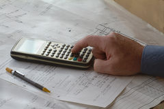 Engineering Hand Calculations Stock Photos