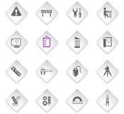 Engineering icon set. Engineering flat rhombus web icons for user interface design vector illustration