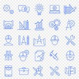 Engineering Icon set. 25 Vector Icons Pack royalty free illustration