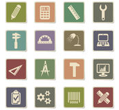 Engineering icon set. Engineering web icons for user interface design Royalty Free Stock Photos