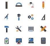 Engineering icon set Stock Images