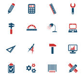 Engineering icon set. Engineering web icons for user interface design Stock Photography