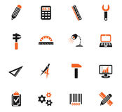 Engineering icon set. Engineering web icons for user interface design Stock Photo