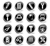 Engineering icon set. Engineering web icons for user interface design Royalty Free Stock Photography