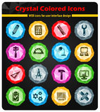 Engineering icon set. Engineering web icons for user interface design Royalty Free Stock Images