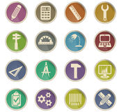 Engineering icon set Stock Photography