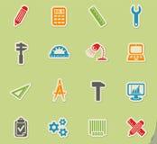 Engineering icon set Royalty Free Stock Photos