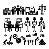 Engineering icon. Engineering workshop in Industry icon Royalty Free Stock Image