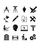 Engineering icons Royalty Free Stock Image