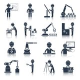 Engineering icons black Stock Photo