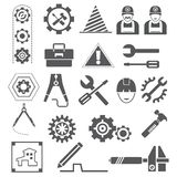 Engineering icons, gears, tools. Big set of engineering icons, gears, tools vector illustration